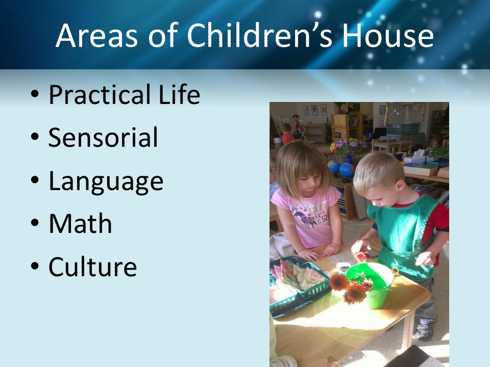 Areas of Children's House