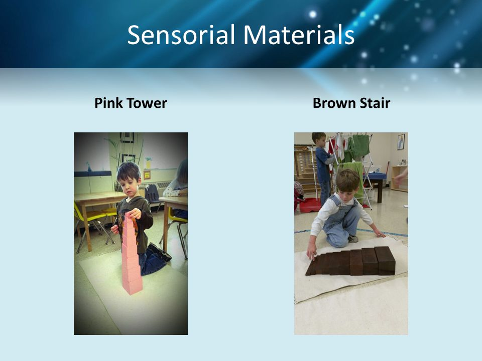 Sensorial Materials Pink Tower Brown Stair