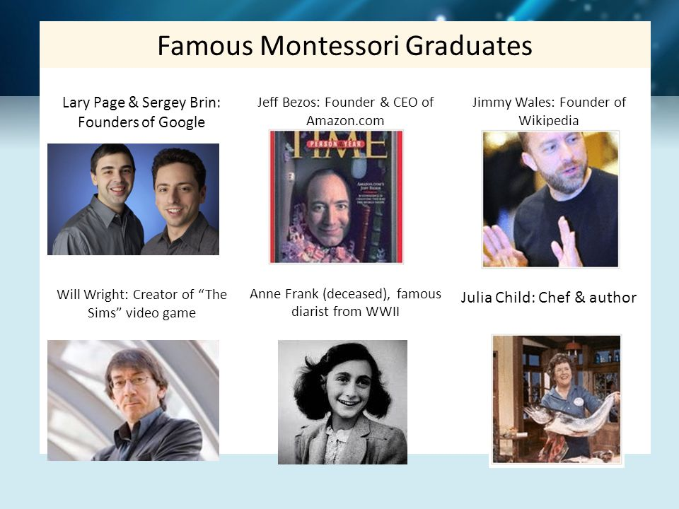 Famous Montessori Graduates