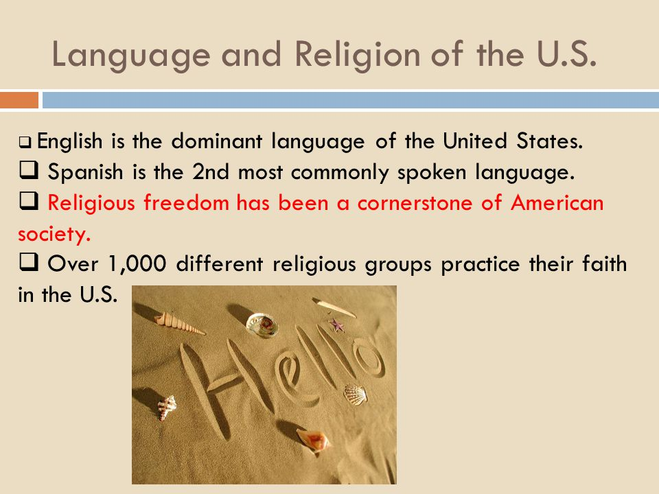 Language and Religion of the U.S.
