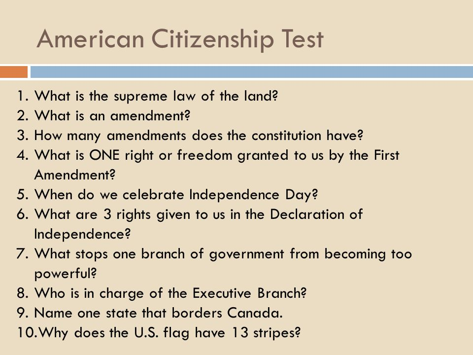 American Citizenship Test