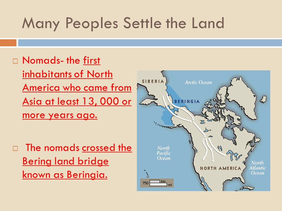 Many Peoples Settle the Land