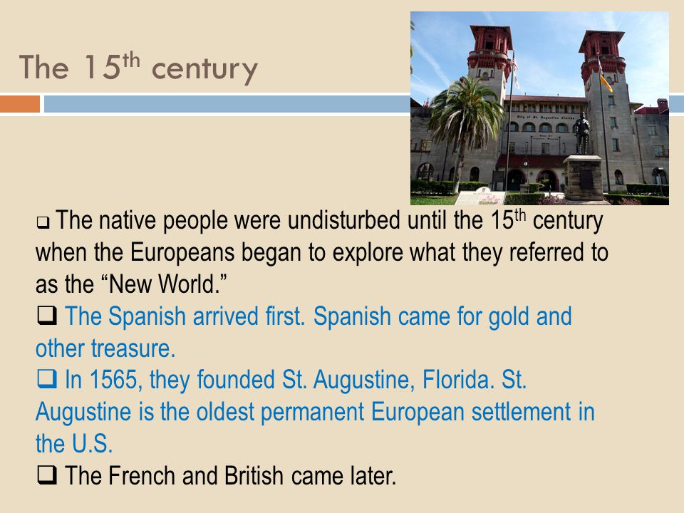 The 15th century