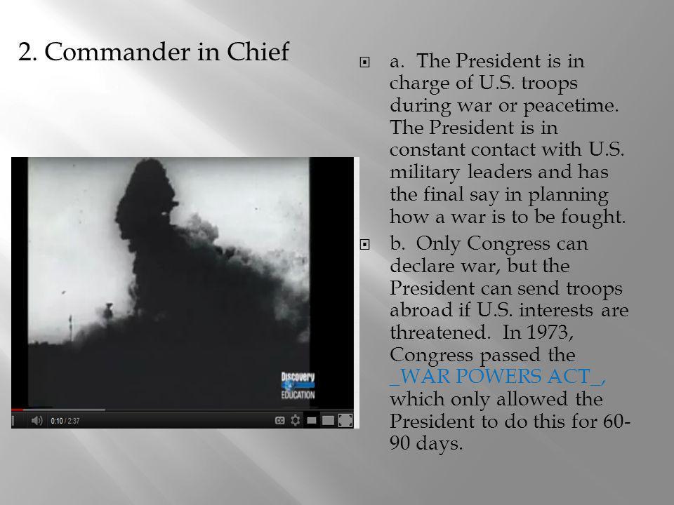 2. Commander in Chief