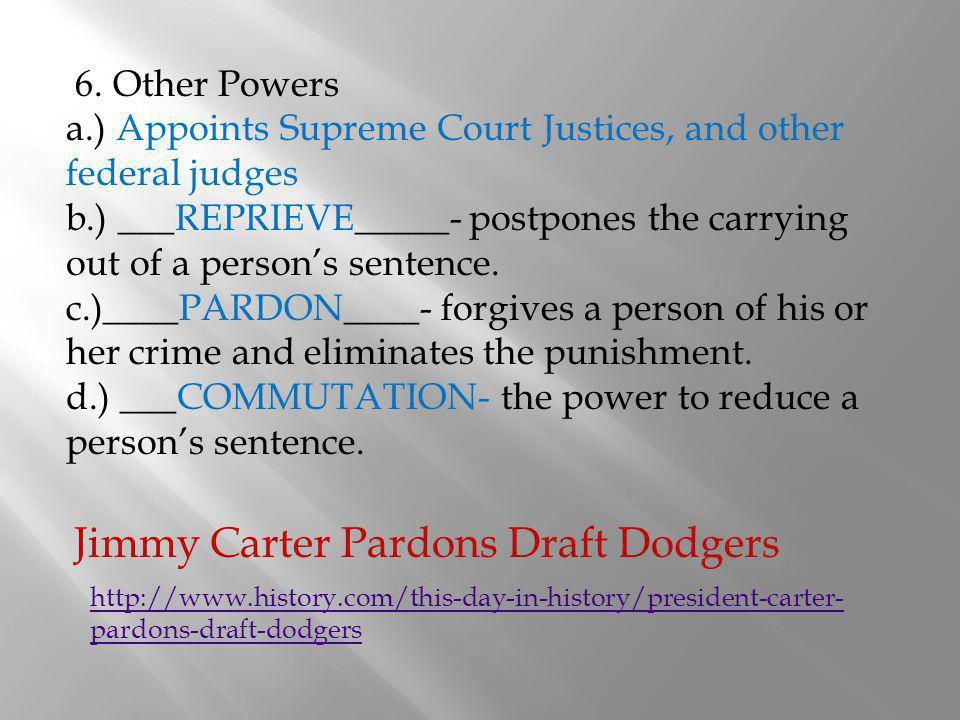 Jimmy Carter Pardons Draft Dodgers