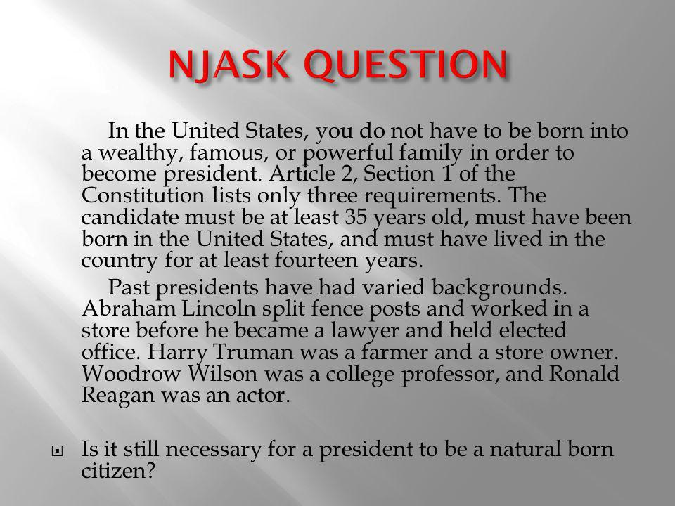 NJASK QUESTION
