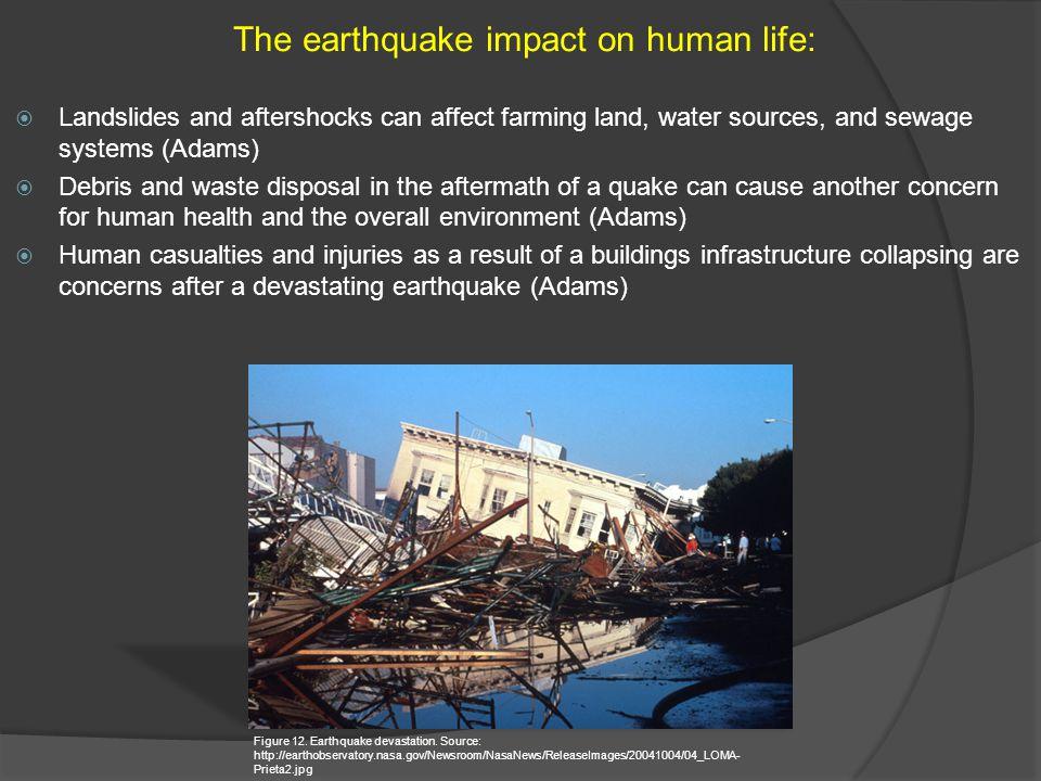 The earthquake impact on human life: