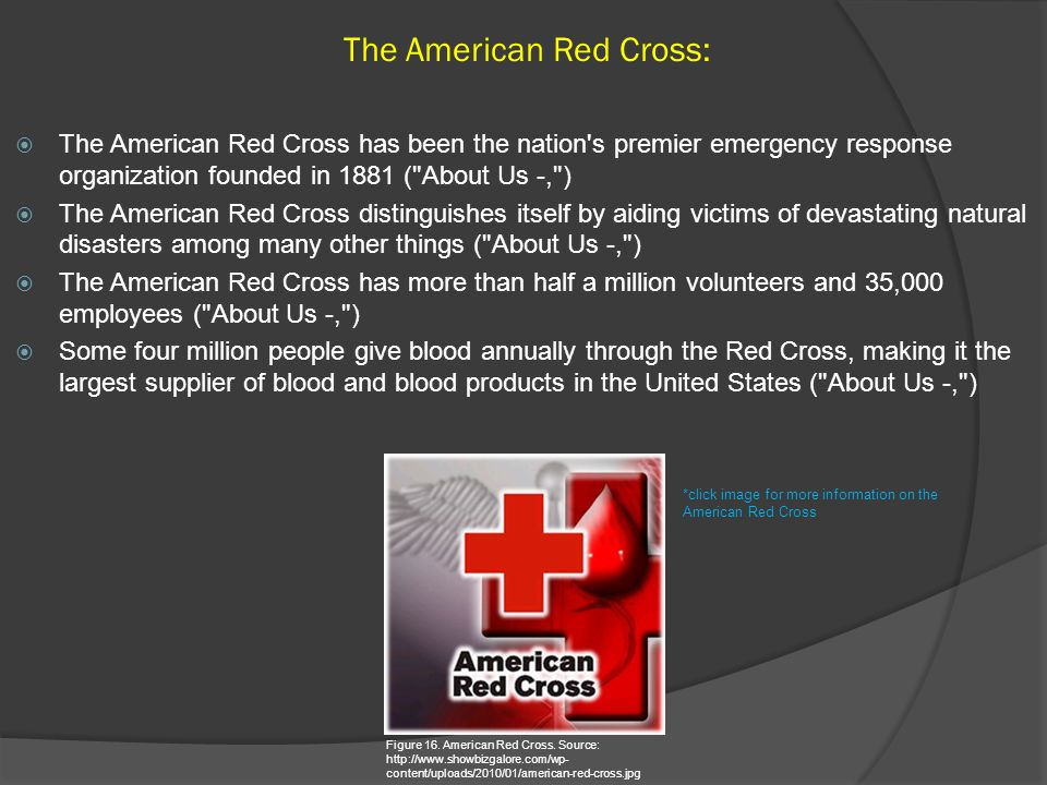 The American Red Cross: