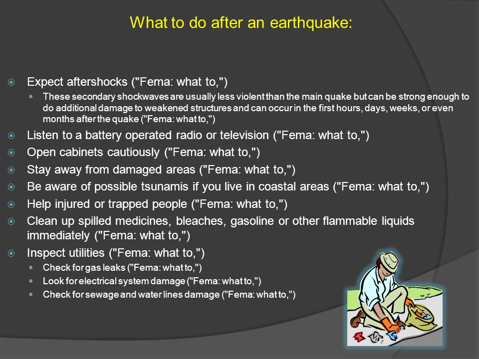 What to do after an earthquake:
