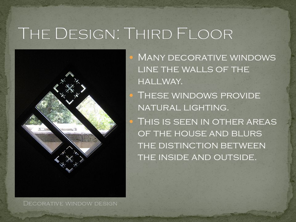 The Design: Third Floor