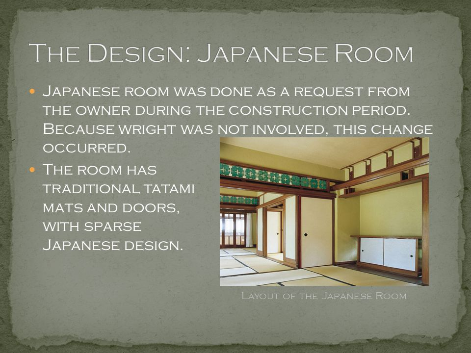 The Design: Japanese Room
