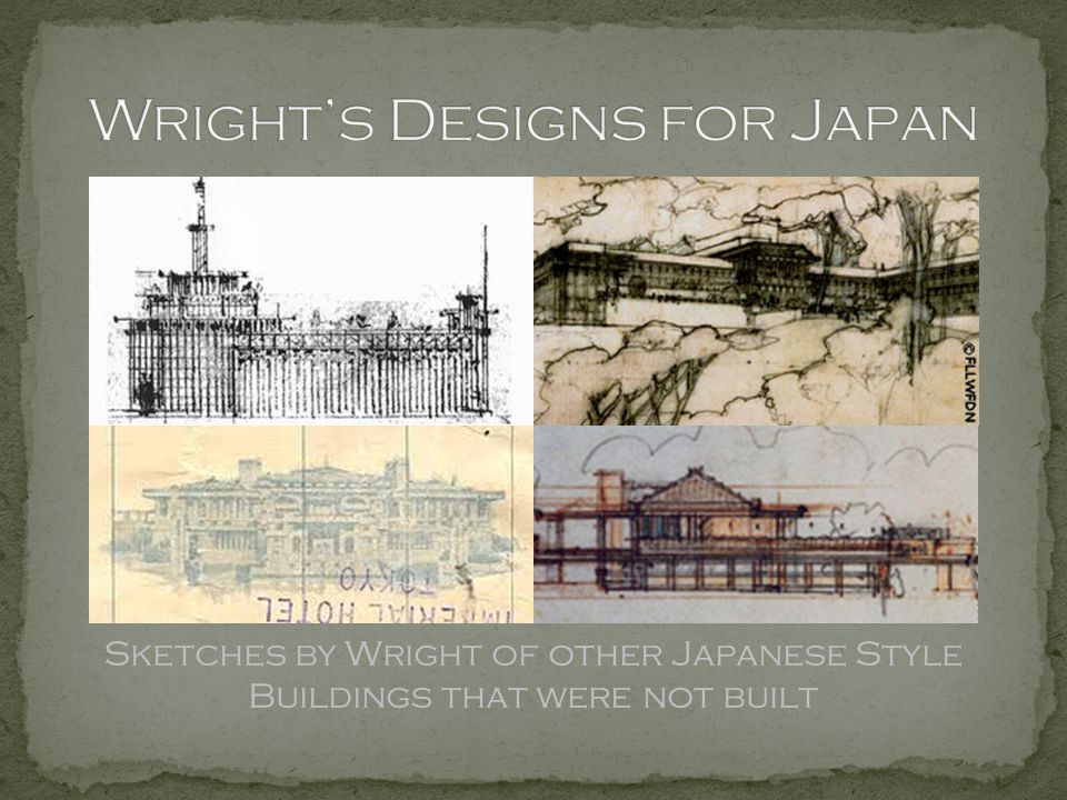 Wright's Designs for Japan