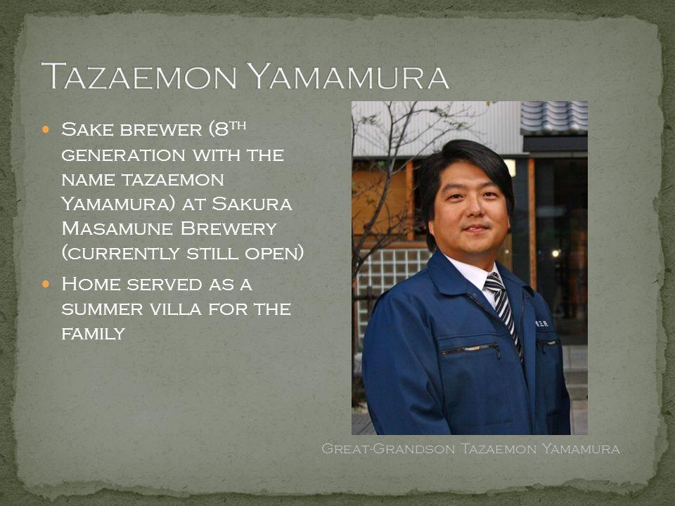 Great-Grandson Tazaemon Yamamura