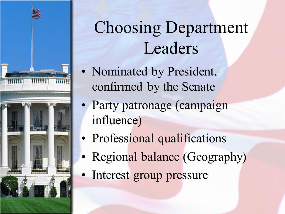 Choosing Department Leaders