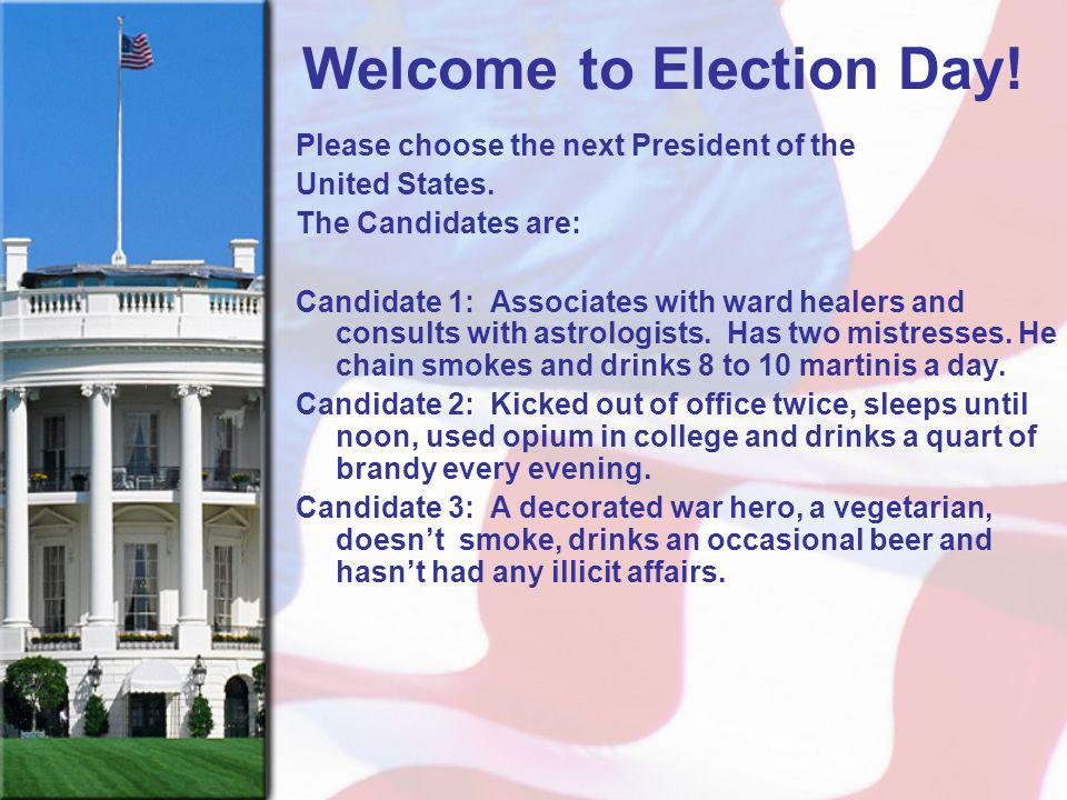 Welcome to Election Day!