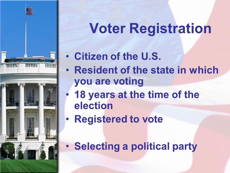 Voter Registration Citizen of the U.S.