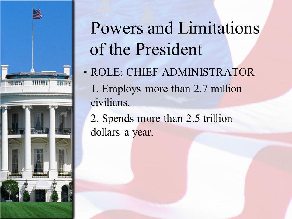 Powers and Limitations of the President