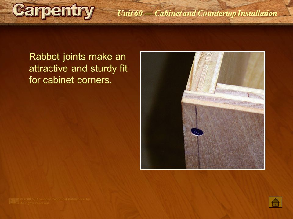 Rabbet joints make an attractive and sturdy fit for cabinet corners.