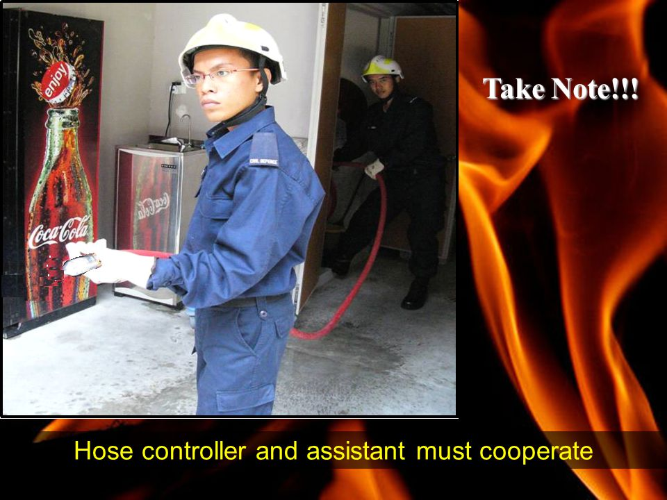 Hose controller and assistant must cooperate