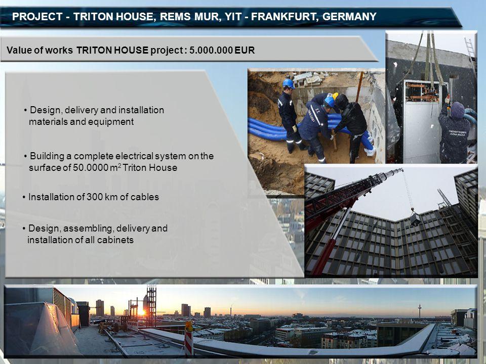 PROJECT - TRITON HOUSE, REMS MUR, YIT - FRANKFURT, GERMANY