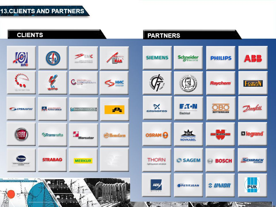 13.CLIENTS AND PARTNERS CLIENTS PARTNERS