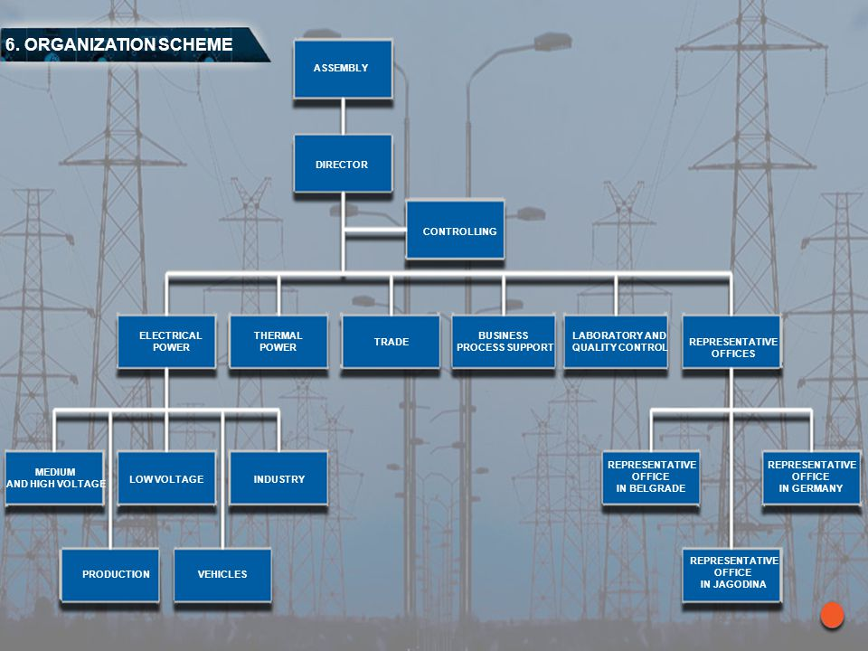 6. ORGANIZATION SCHEME ASSEMBLY DIRECTOR CONTROLLING ELECTRICAL POWER