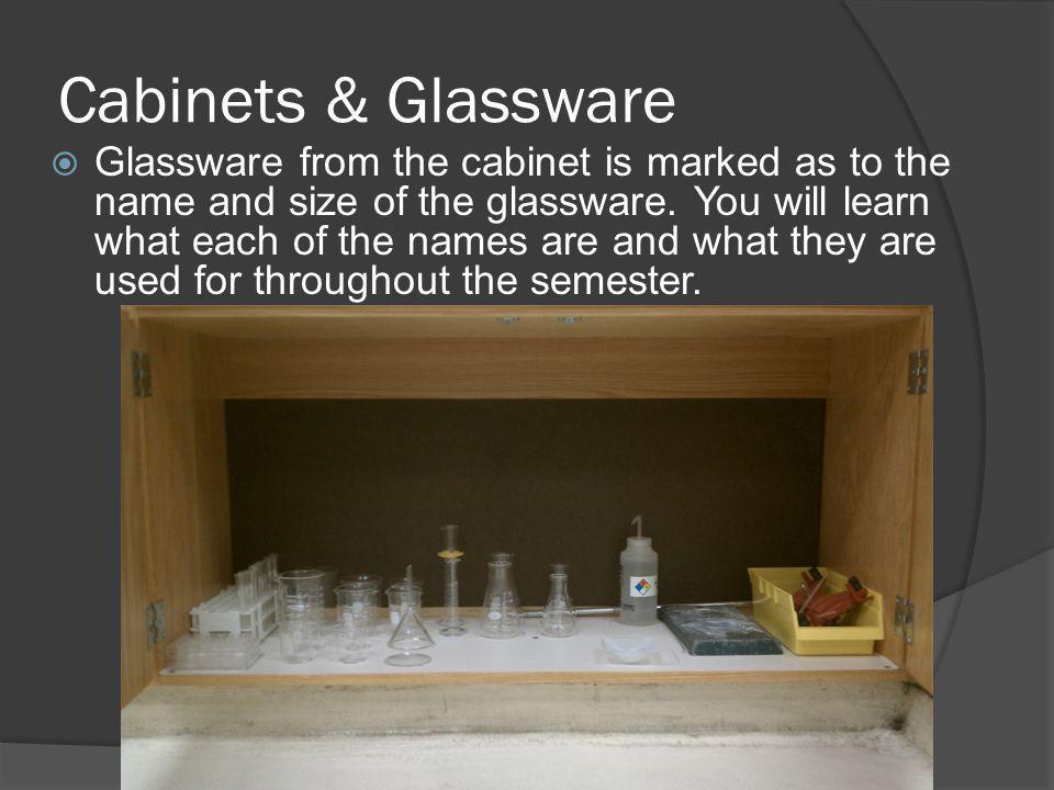 Cabinets & Glassware