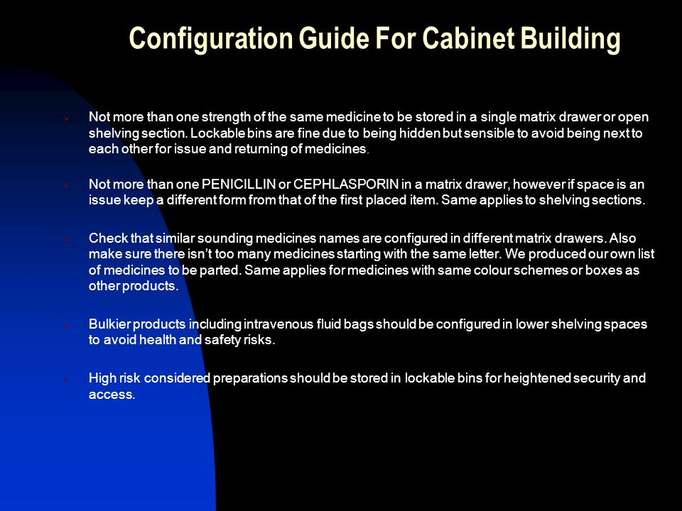 Configuration Guide For Cabinet Building