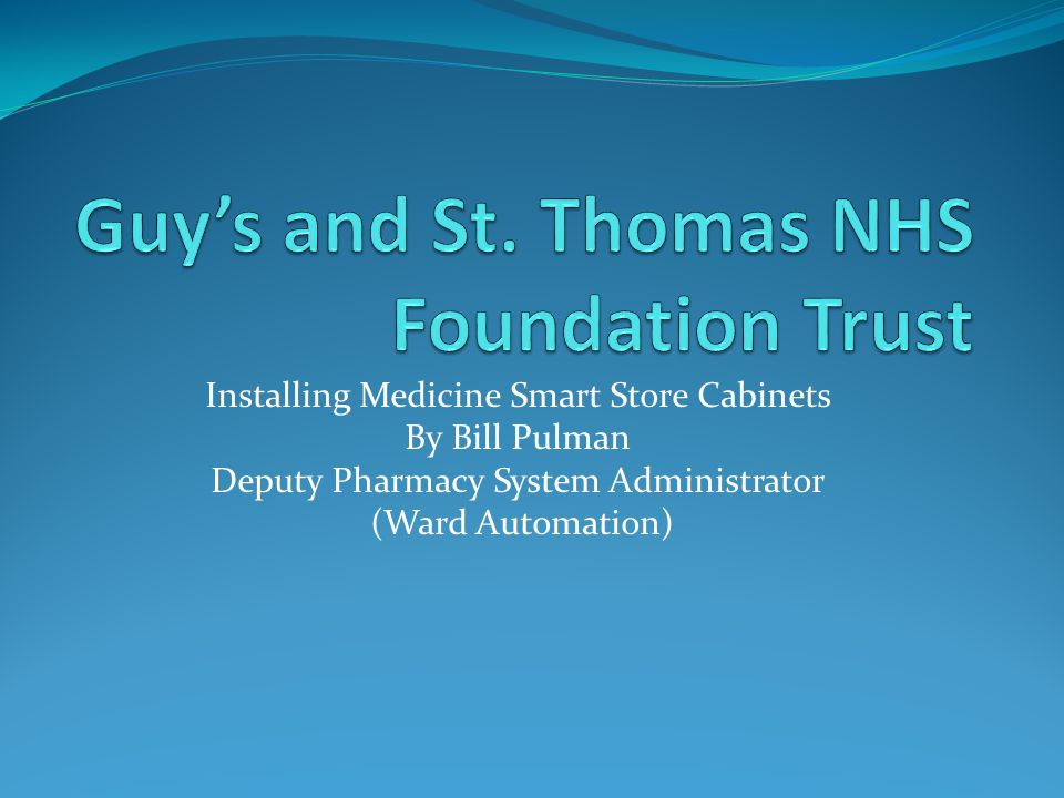 Guy's and St. Thomas NHS Foundation Trust