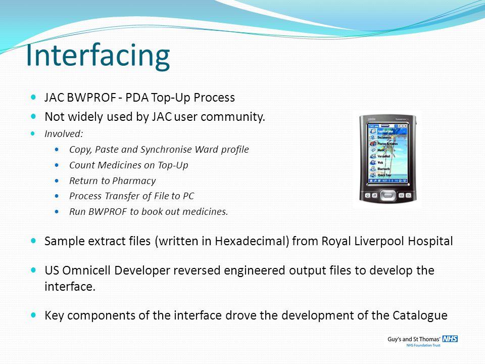 Interfacing JAC BWPROF - PDA Top-Up Process