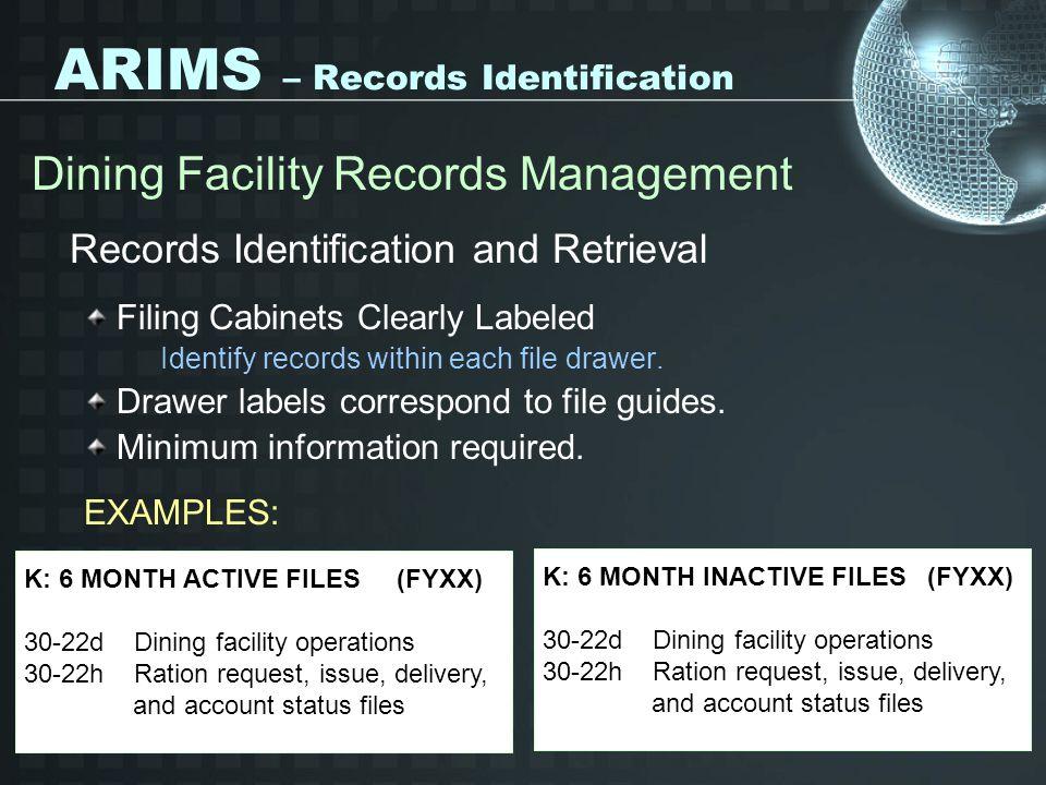 ARIMS – Records Identification