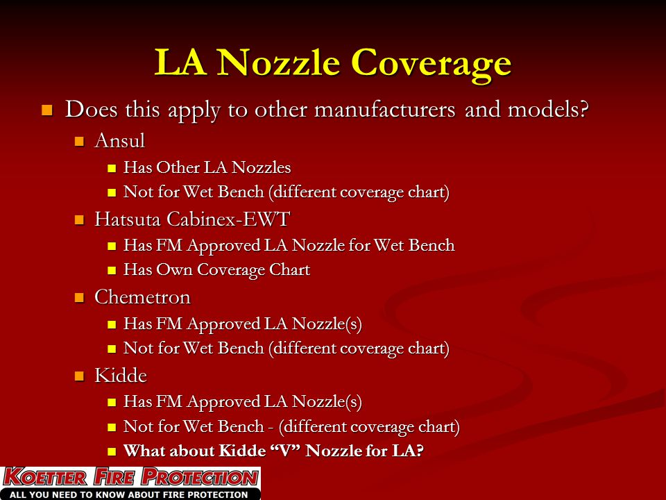LA Nozzle Coverage Does this apply to other manufacturers and models