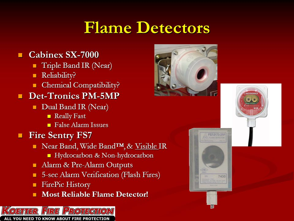 Flame Detectors Cabinex SX-7000 Det-Tronics PM-5MP Fire Sentry FS7