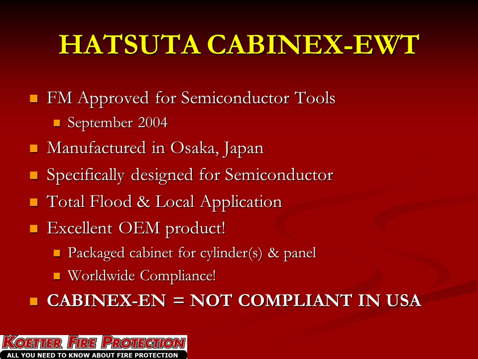 HATSUTA CABINEX-EWT FM Approved for Semiconductor Tools