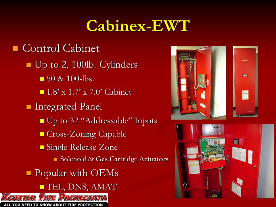 Cabinex-EWT Control Cabinet Up to 2, 100lb. Cylinders Integrated Panel
