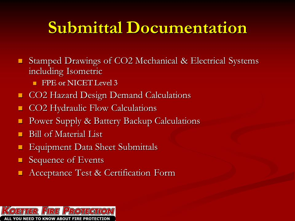 Submittal Documentation