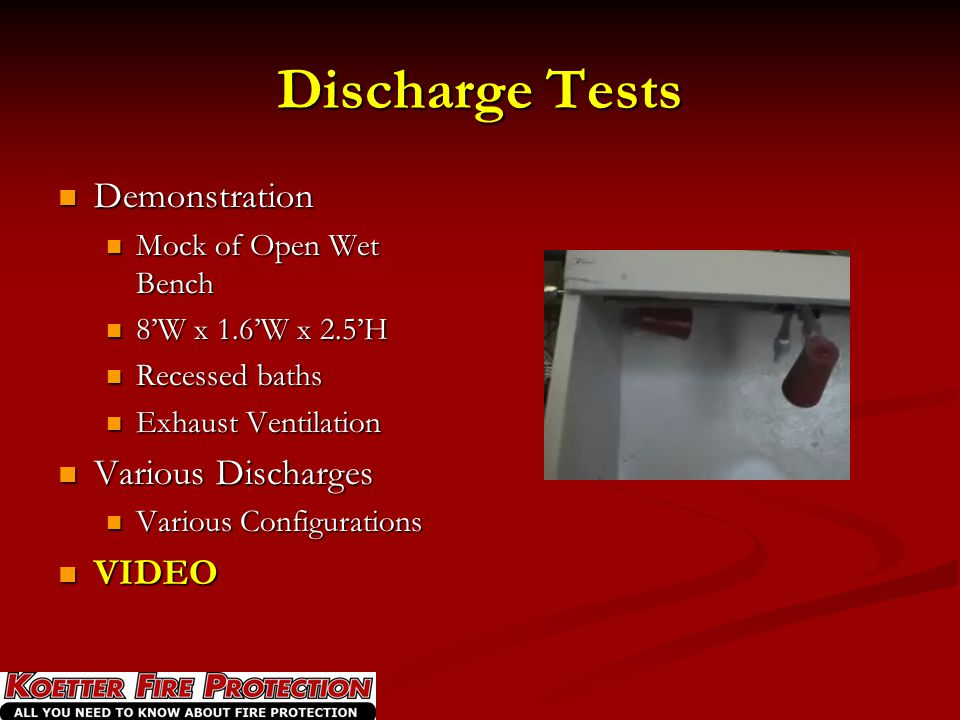 Discharge Tests Demonstration Various Discharges VIDEO