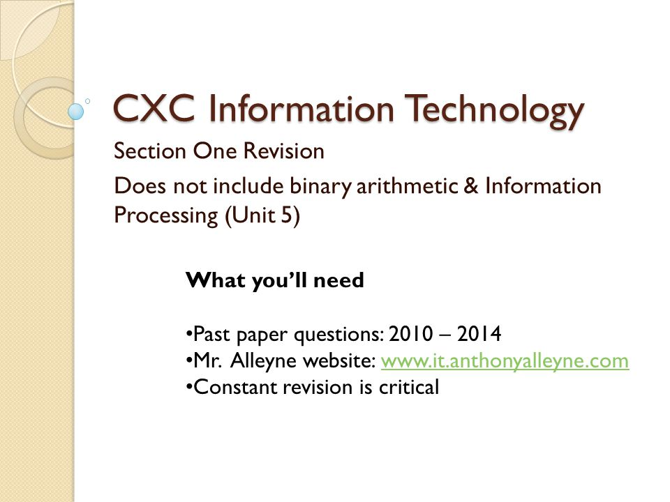 CXC Information Technology