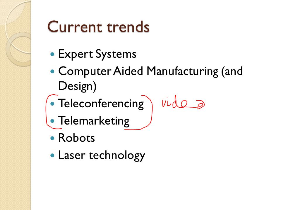 Current trends Expert Systems