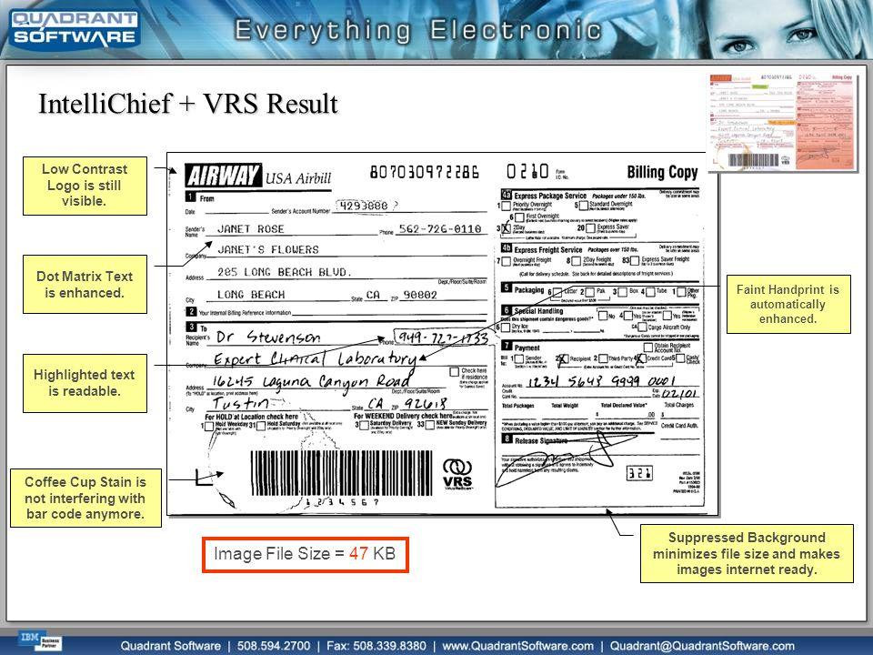 IntelliChief + VRS Result