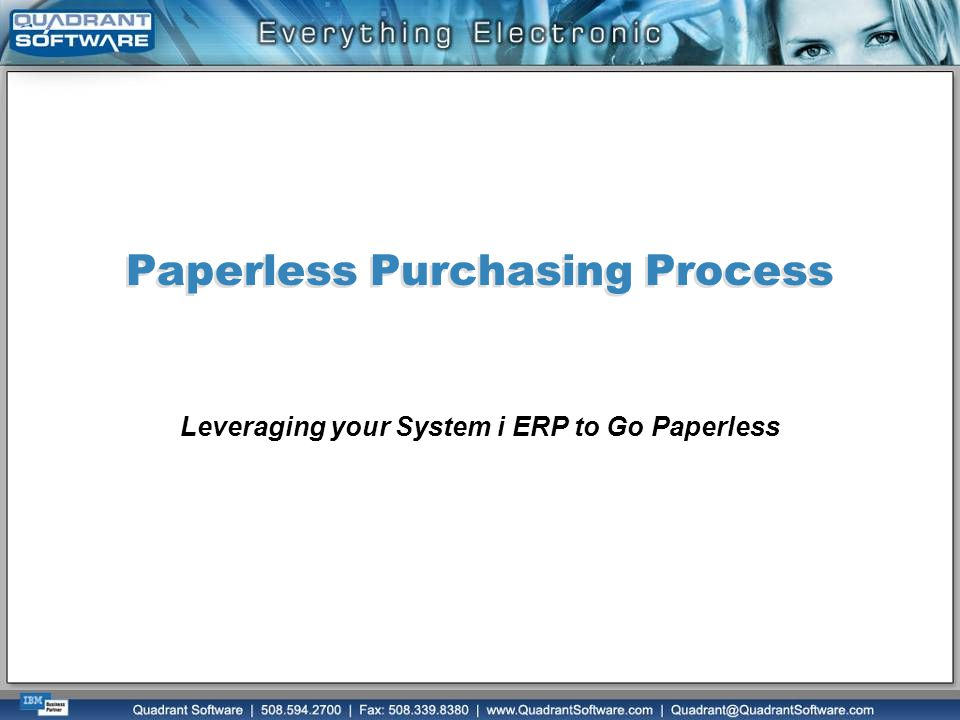 Paperless Purchasing Process