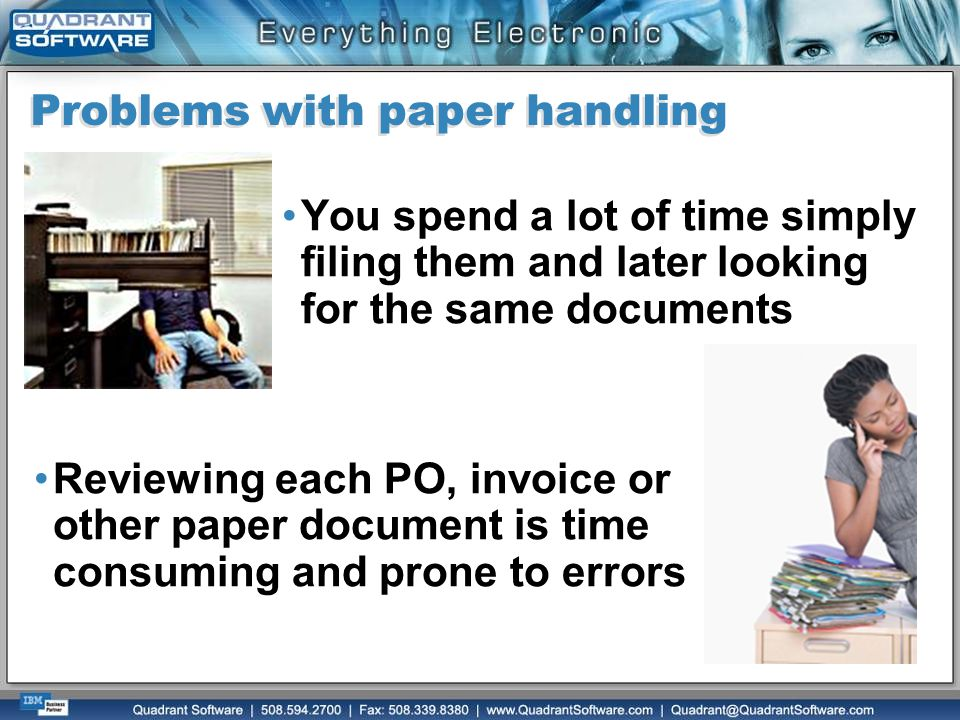 Problems with paper handling