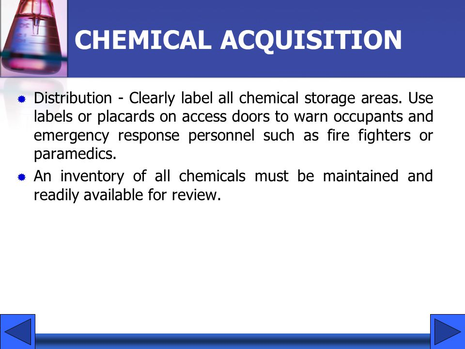CHEMICAL ACQUISITION