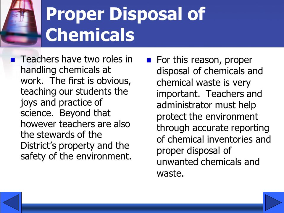 Proper Disposal of Chemicals