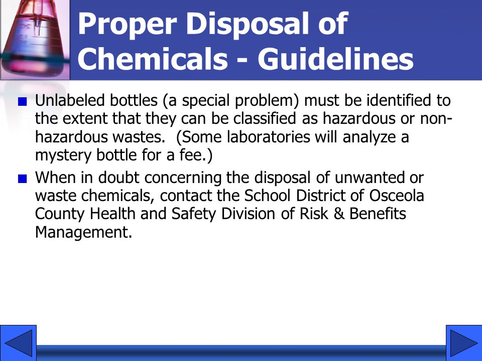 Proper Disposal of Chemicals - Guidelines