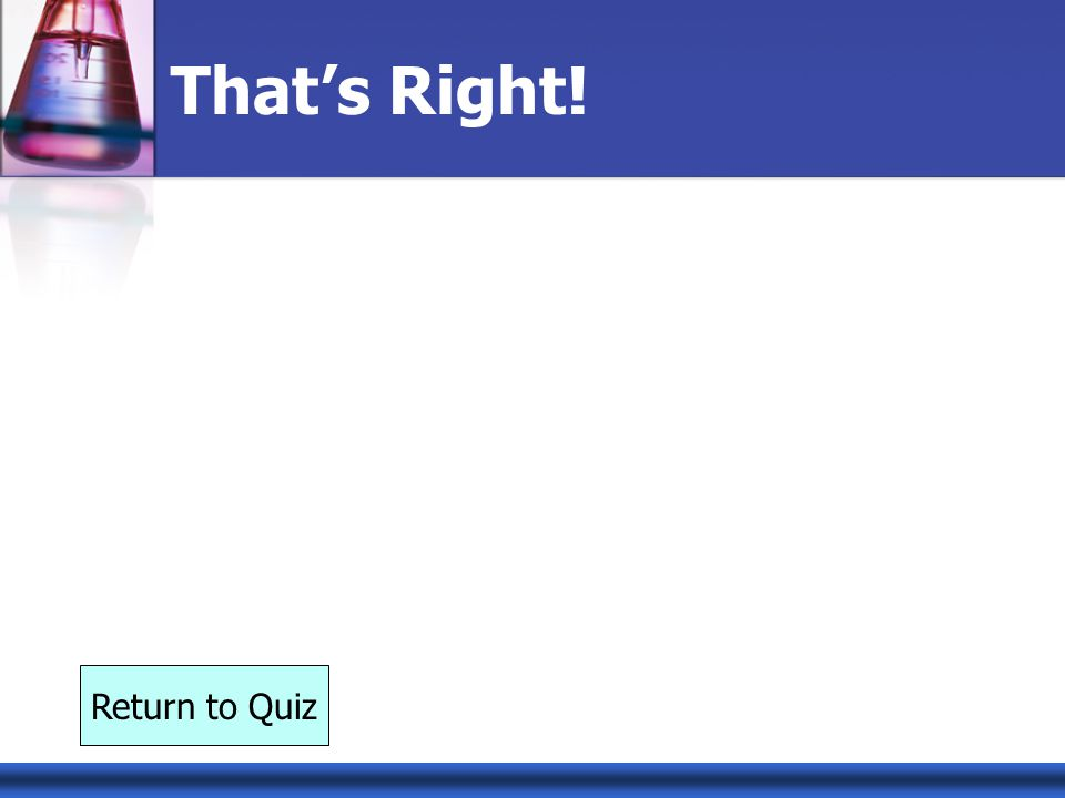 That's Right! Return to Quiz