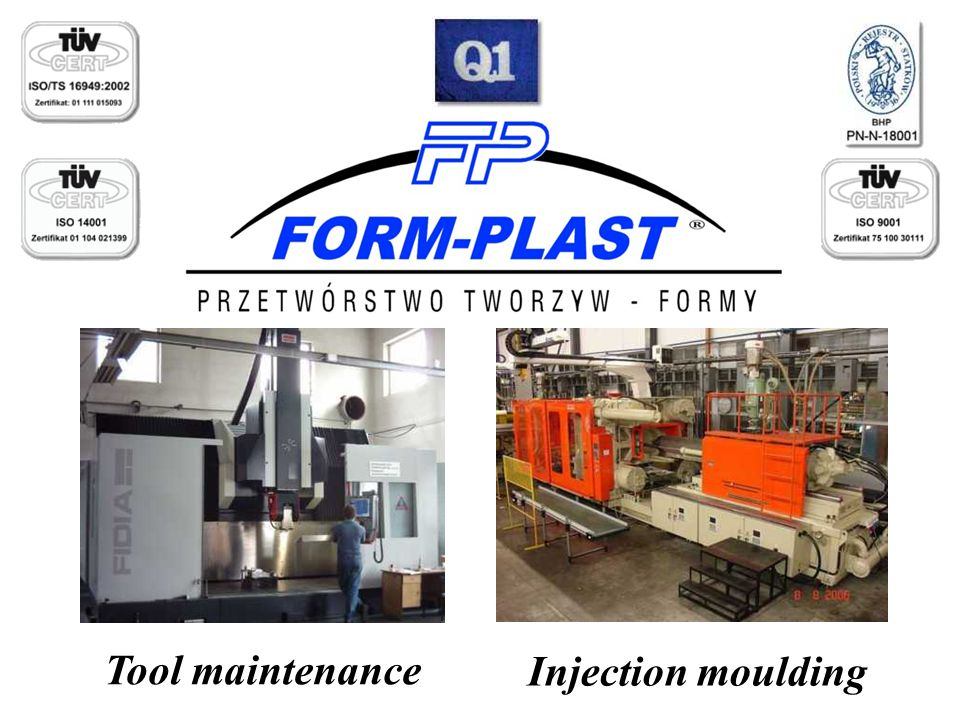 Tool maintenance Injection moulding