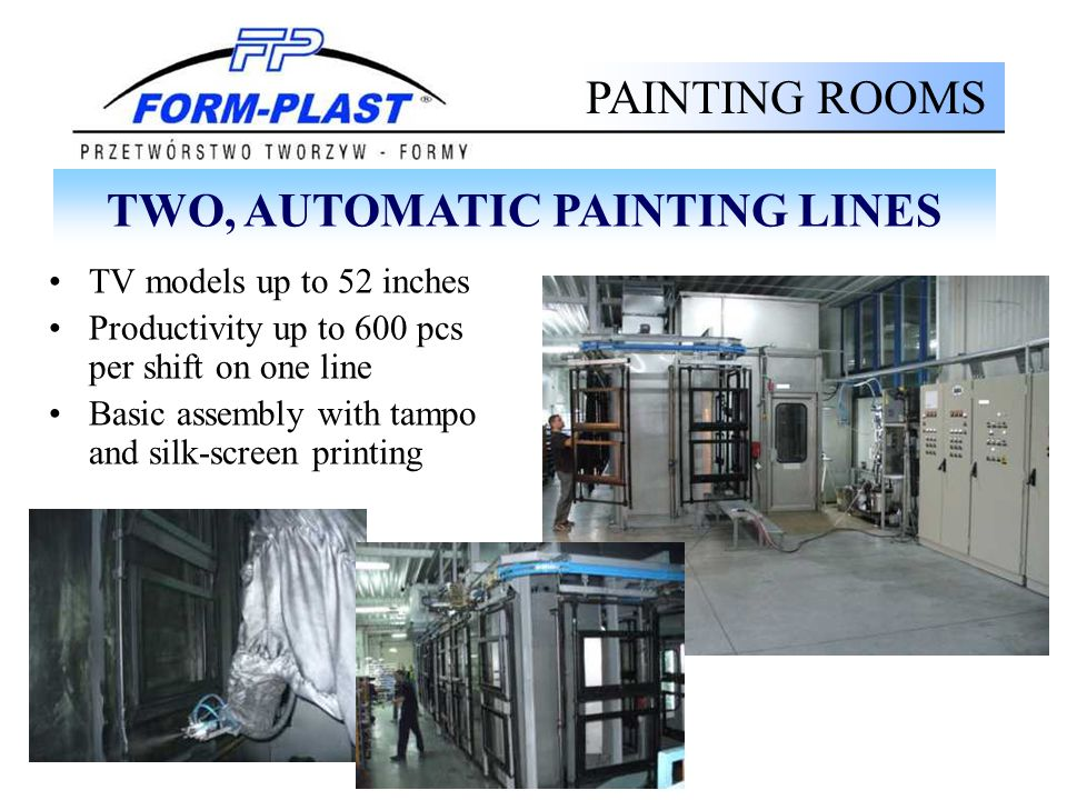 TWO, AUTOMATIC PAINTING LINES