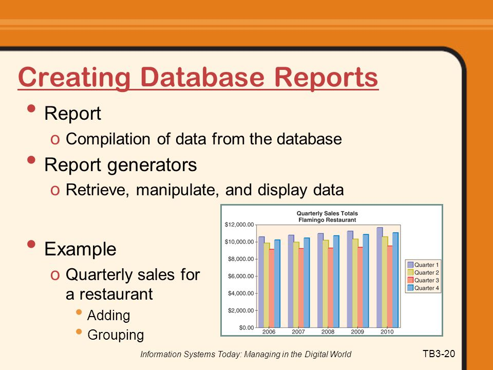 Creating Database Reports