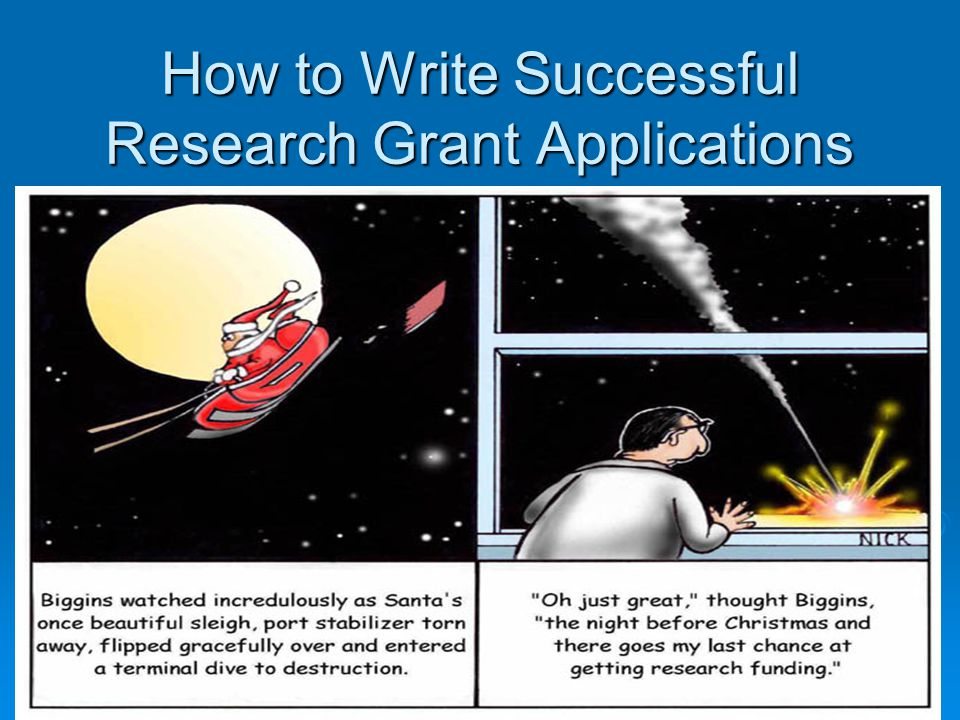 How to Write Successful Research Grant Applications